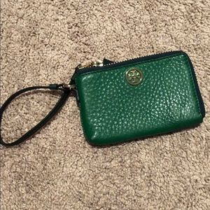 Tory Burch Green Wristlet